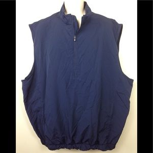 FootJoy Golf Vest windshirt Navy Blue Sz Tall XL